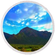 Unaweep Mountains  Round Beach Towel