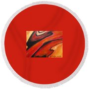 Uncertainity Round Beach Towel