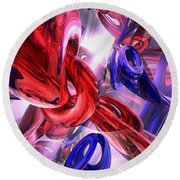 Unchained Abstract Round Beach Towel