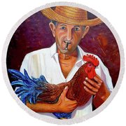 Uncle Frank 2 Round Beach Towel