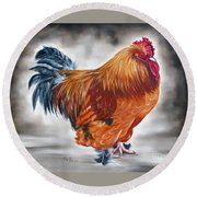 Uncle Samie's Rooster Round Beach Towel