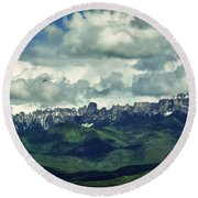 Uncompahgre Colorado Alpine Round Beach Towel