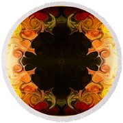 Undecided Bliss Abstract Healing Artwork By Omaste Witkowski Round Beach Towel