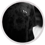 Under Armour Black And White Round Beach Towel
