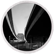 Under Interstate 5 Sacramento Round Beach Towel