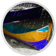 Under The Boardwalk 2 Round Beach Towel