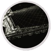 Under The Brooklyn Tower Round Beach Towel