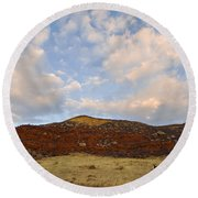 Under The Colorado Sky Round Beach Towel