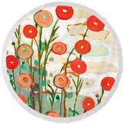 Under The Desert Sky Round Beach Towel by Jennifer Lommers