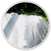 Under The Falls Round Beach Towel