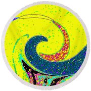 Under The Microscope Round Beach Towel