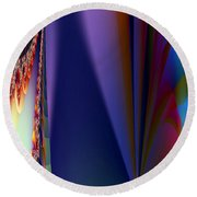 Under The Rainbow Round Beach Towel