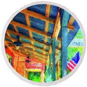 Under The Roof Round Beach Towel