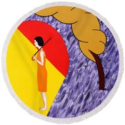 Under The Shelter Of Your Love Round Beach Towel