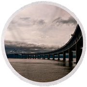 Under The Tappan Zee Round Beach Towel