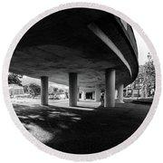 Under The Viaduct C Urban View Round Beach Towel