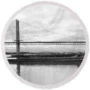 Under The Wing Round Beach Towel