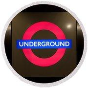 Underground Sign Round Beach Towel