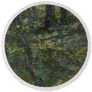 Undergrowth Saint Remy De Provence  July 1889 Vincent Van Gogh 1853  1890 Round Beach Towel