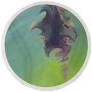 Underwater Glow Round Beach Towel