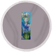 Underwater Mermaid Round Beach Towel