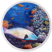 Underwater Treasures Round Beach Towel