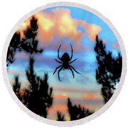 Unexpected Beauty Round Beach Towel