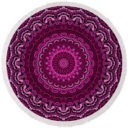 Unexpected In Pink No. 2 Round Beach Towel