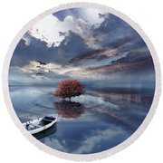 Unfathomable Round Beach Towel by Lourry Legarde