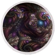 Unfathomable Syncretism Round Beach Towel