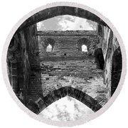 Unfinished Church Round Beach Towel