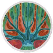 Unfinished Tree Round Beach Towel