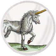 Unicorn, 1607 Round Beach Towel