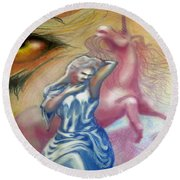 Unicorn Dream Round Beach Towel