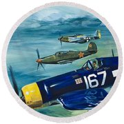Unidentified Aircraft Round Beach Towel
