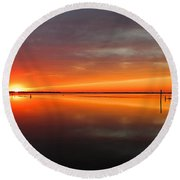Unimagined Passion Round Beach Towel