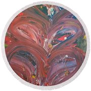 Unintended Abstract  Round Beach Towel