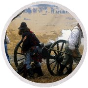 Union Canonniers Round Beach Towel