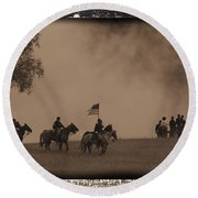 Union Cavalry Charge Round Beach Towel