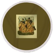 Union Cavalry Round Beach Towel