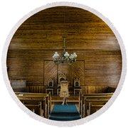 Union Christian Church Sanctuary Round Beach Towel
