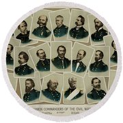 Union Commanders Of The Civil War   Round Beach Towel