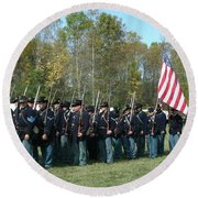 Union Infantry March Round Beach Towel