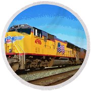 Union Pacific Round Beach Towel