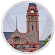 Union Pacific Railroad Depot Cheyenne Wyoming 01 Round Beach Towel