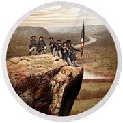 Union Soldiers On Lookout Mountain Round Beach Towel