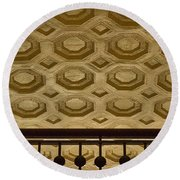 Union Station Ceiling #2 Round Beach Towel