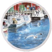 Union Wharf Round Beach Towel