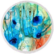 Unique Art - A Touch Of Red - Sharon Cummings Round Beach Towel
