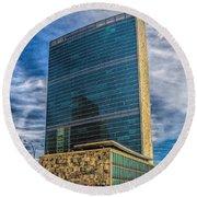 United Nations Headquarters Round Beach Towel